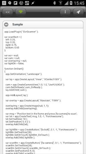 DroidScript - OcrScanner Plugin  screenshots 4