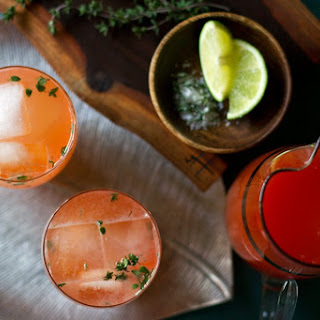 Blood Orange Thyme Paloma Cocktail