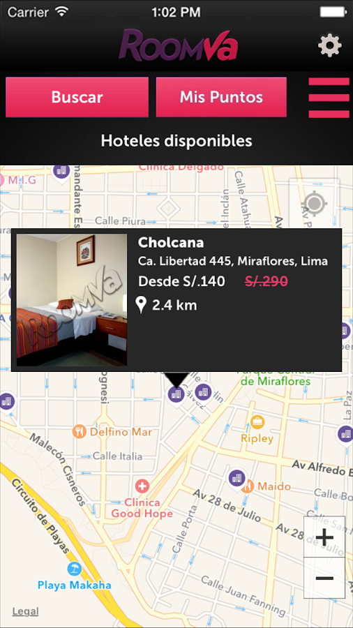 RoomVa – Last minute hotels- screenshot