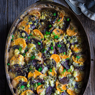 Sweet Potato And Blue Cheese Gratin