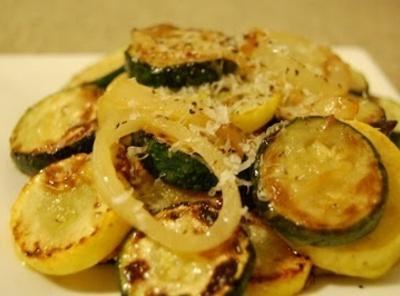 Sautéed Parmesan Zucchini & Yellow Squash Recipe