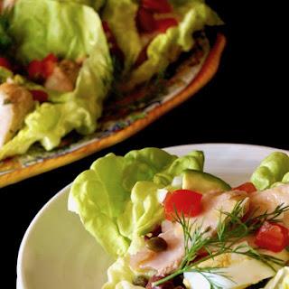 Albacore Nicoise Salad Cups with Honey-Lemon Dressing.