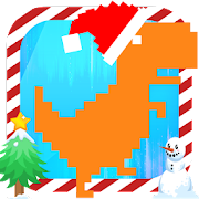 T-rex runner - Christmas Games Google chrome Color