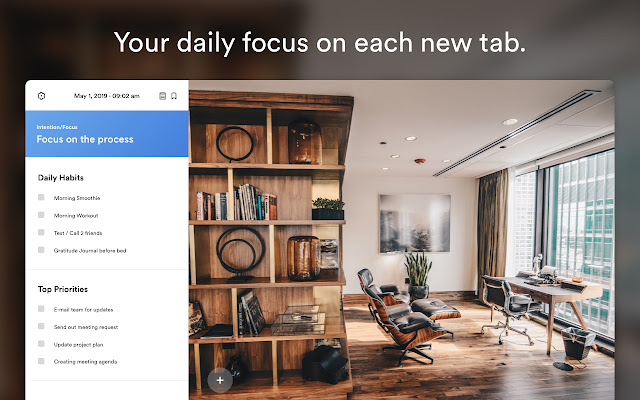 PurposeTab: Your daily focus on each new tab