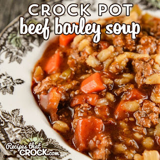 Crock Pot Beef Barley Soup.