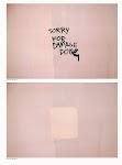 geschreven tekst Sorry for Damage Done op rose achtergrond