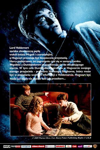 Tył ulotki filmu 'Harry Potter i Książę Półkrwi'