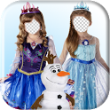 Frozen Ice Princess Photo Frame Editor icon