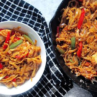 Spicy Chicken Noodle Stir Fry.