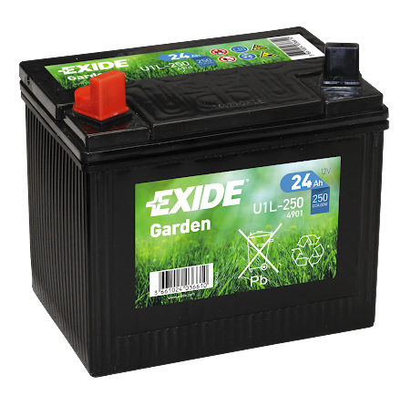 Tudor/Exide batteri 12V/24Ah