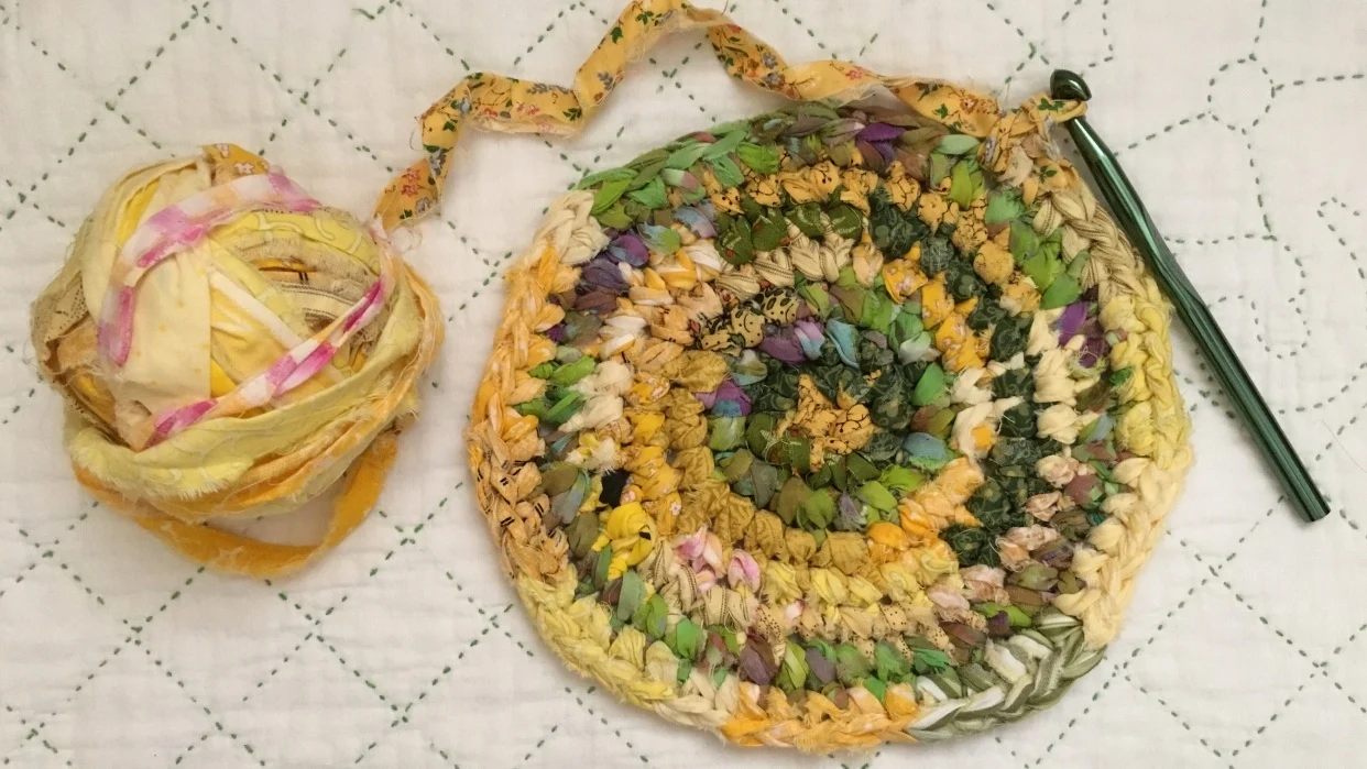 crocheted rags