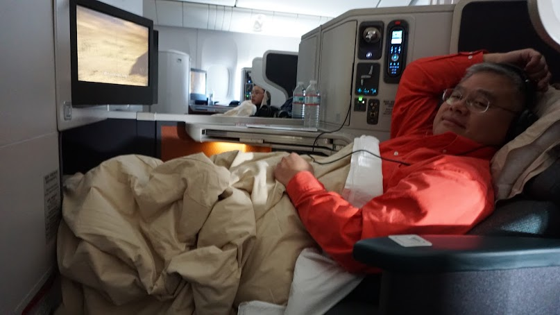 Cathay Pacific, business class,