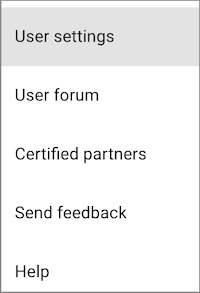 Optimize user settings menu screenshot