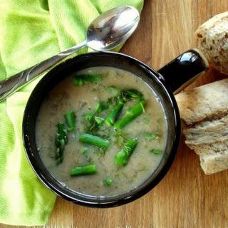 White Bean Asparagus Dill Soup