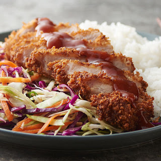 Tonkatsu Pork with Asian Slaw.