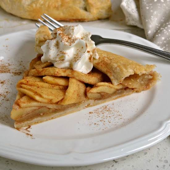 This Simple Yet Elegant Apple Galette Has The Full Flavor And Spice Of An Apple Pie With A Fraction Of The Work.  Bake One For Your Family Today And They Will Be Singing Your Praises.