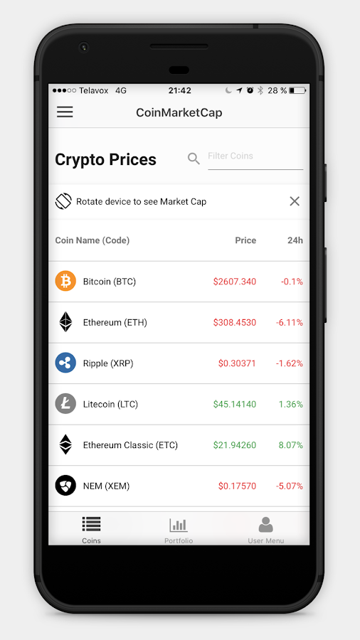 CoinMarketCap - Crypto Prices & Coin Market Cap- screenshot