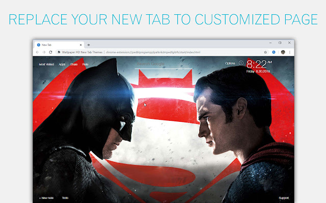 Batman-vs-Superman Wallpaper HD Custom NewTab