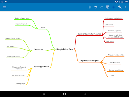 SimpleMind Free mind mapping- screenshot thumbnail