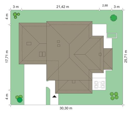 Dom z widokiem 4 - Sytuacja