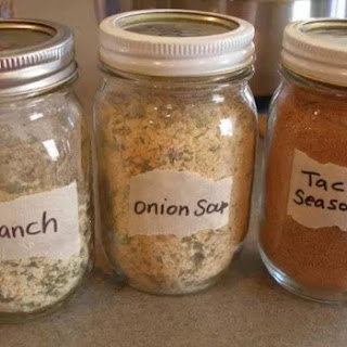 Make Your Own Ranch, Dry Onion Soup Mix and Taco Seasoning and Store in Small Mason Jars !!! Recipe