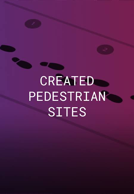 We created pedestrian sites in urban centers and assisted accounts to support individuals without access to phone or internet