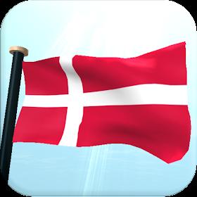 Дания Флаг 3D Бесплатных Обои