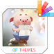 New year pig36 Xperia Theme