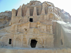 Photo: Caves near the entrance to Petra.  Many of the caves are also tombs.