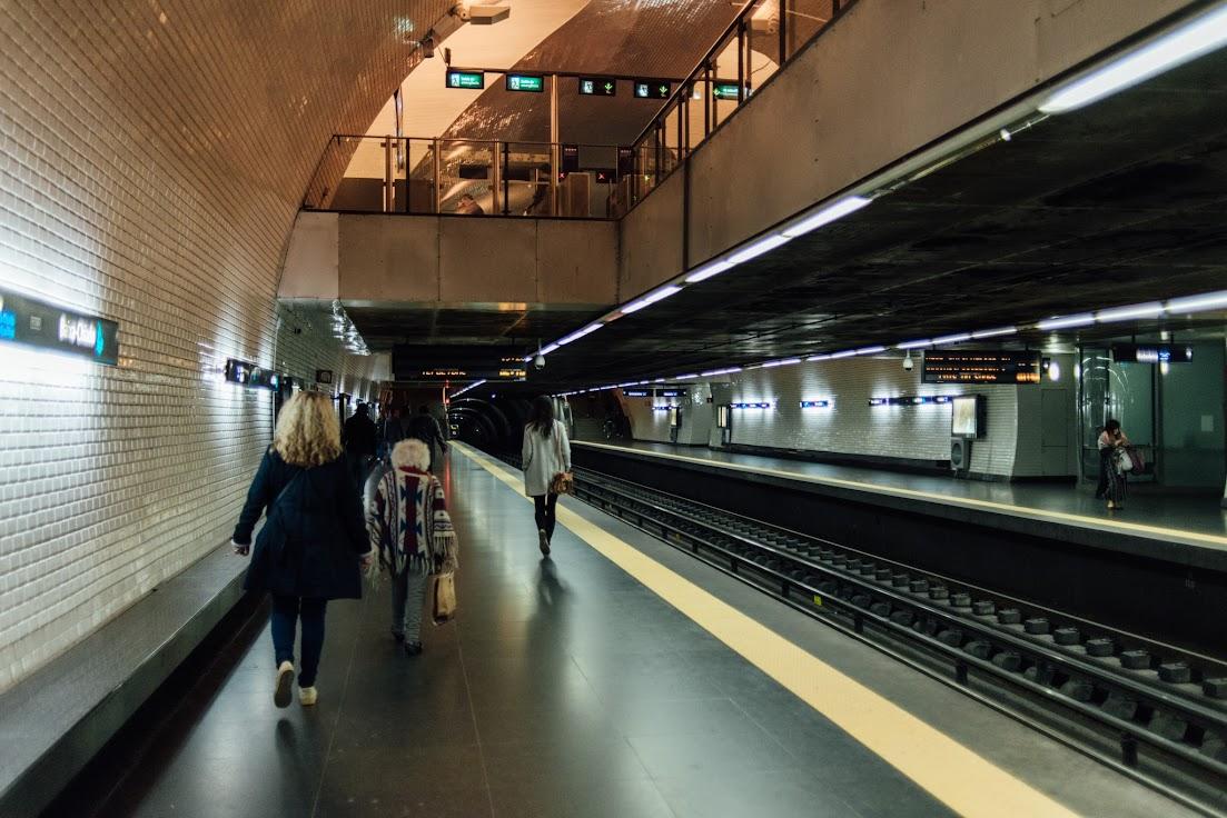 Baixa Chiado, metro, Lisbon, Lisszabon