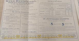 Precios y destinos de los trenes botijo del año 1909