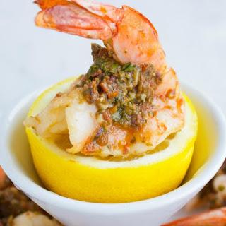 Pesto Stuffed Shrimps