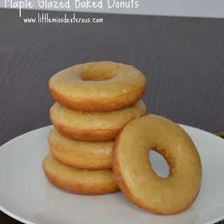 Maple Glazed Baked Donuts