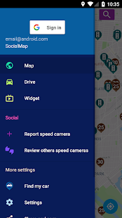 Speed Cameras Radar Screenshot