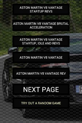 Engine sounds of V8 Vantage