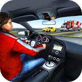 Highway Traffic Racing im Auto: Endlos Racer