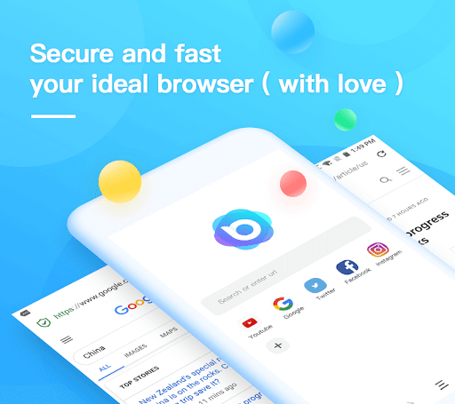 Nox Browser - Fast & Safe Web Browser, Privacy 2.0.0 screenshots 1