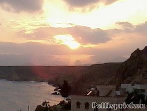 Photo: Nu går solen snart ner, klockan är 19.15. Vi bör skynda oss hem nu. Tur som vi hade så stog Janne med husbilen vid sandformationerna så vi slapp gå sista biten