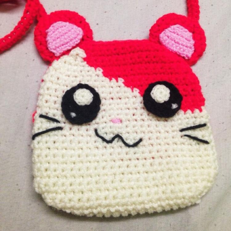 Handmade hamtaro sling bag by Ricin Craft