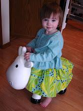 Photo: Bea on a riding cow