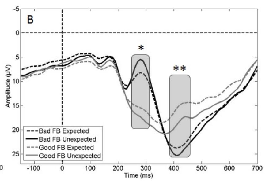 Figure montrant l'onde FRN au cours du temps