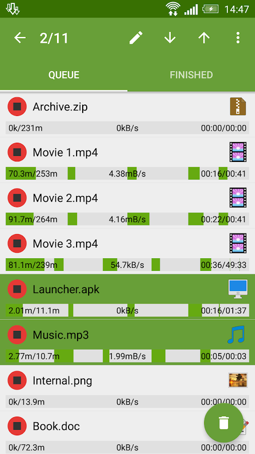 Screenshots of Advanced Download Manager for iPhone