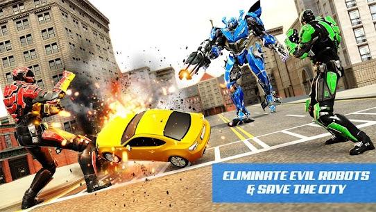 Zebra Robot Car Game: Car Transform Robot Games 3