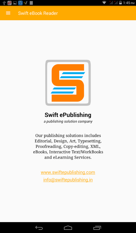 Swift eBook Reader- screenshot