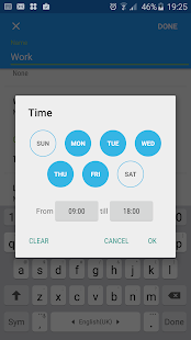 Profile Manager (w/ schedules) Screenshot