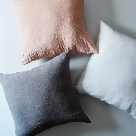 Stonewashed Linen Pillow Cover