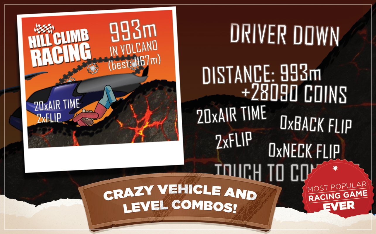 Hill Climb Racing: captura de pantalla