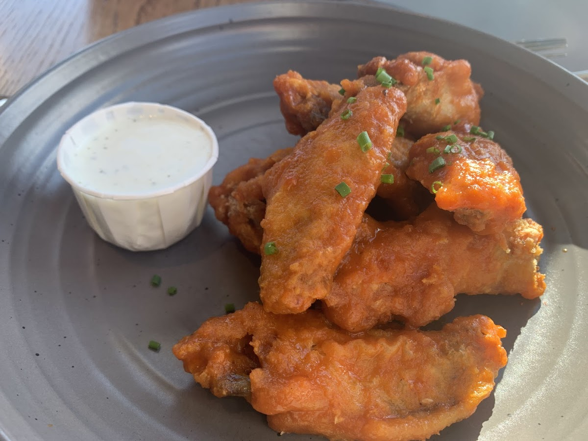 Bob's wings with goat cheese ranch