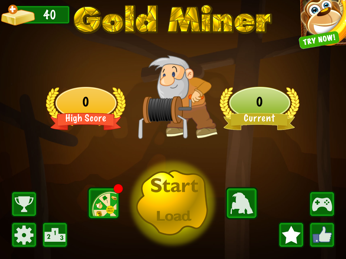 play classic gold miner