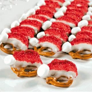 Christmas Santa Hat Pretzels